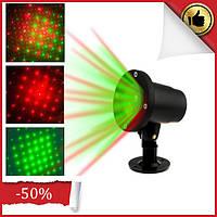 Лазерный проектор для дома Вaby sbreath laser light FA1802, Векторный лазерный проектор уличный