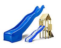 Горка детская пластик 3 метра. Спуск HAPRO. Производство Голландия. Цвет синий.