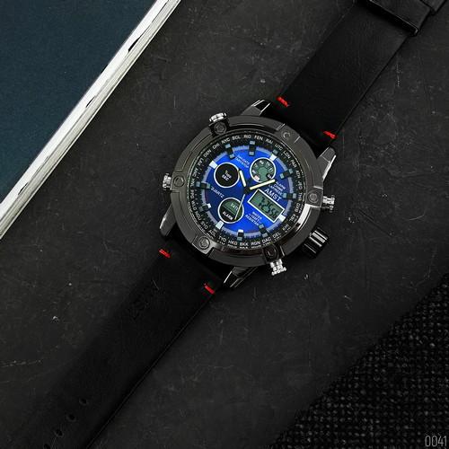 AMST 3022 Black-Blue Smooth Wristband