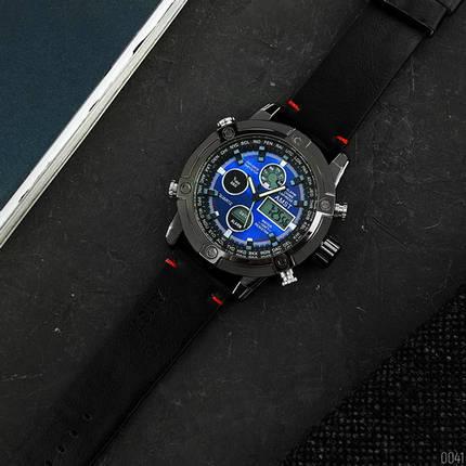 AMST 3022 Black-Blue Smooth Wristband, фото 2