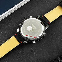 AMST 3022 Black-Blue Smooth Wristband, фото 3
