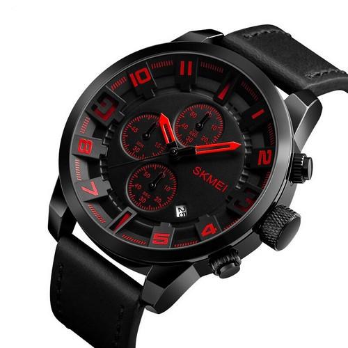Skmei 1309 All Black-Red