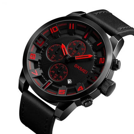 Skmei 1309 All Black-Red, фото 2