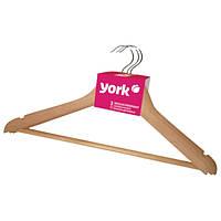 Набір дерев'яних вішалок для одягу York, 3 шт