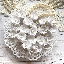 Цветы Вишни 25мм Белый с тычинками распродажа