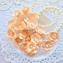 Цветы Вишни 25мм Персиковый с тычинками распродажа