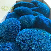 Мох стабилизированные кочки синие, фото 1