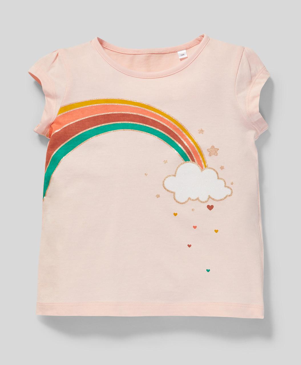 Рожева футболка для дівчинки C&A Німеччина Розмір 116