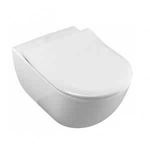 Унітаз підвісний VILLEROY&BOCH AVENTO Ceramic Plus Rimless 53 см + сидіння 9M87S101