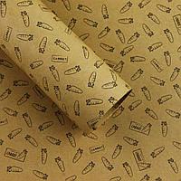 Подарочная бумага КРАФТ (78*53 см, 20 листов в упаковке) Китай