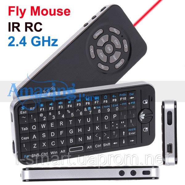 Русский 2.4Ghz Mini Wireless Fly Air Mouse обучаемый пульт