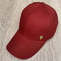 Бейсболка унисекс Ferrari реплика Бордовая