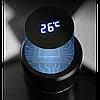 Бутылка термос с индикацией температуры для воды напитков стальной 500 мл Smart CUP Чёрный, фото 2