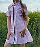 Стильное платье- рубашка   для девочки  код 706 лето , размеры на рост от 134 до 152 возраст 8 и старше