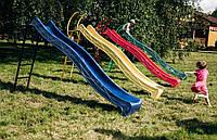 Горка детская 3 м с металлической лестницей 1,5 см. Спуск KBT. Разные цвета. Производство Бельгия.
