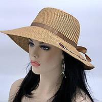 Летняя шляпа с большими полями  (кофе с молоком)