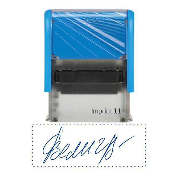 Факсимиле, подпись 38x14 мм с оснасткой Trodat Imprint 11