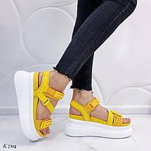 Желтые босоножки на платформе 7114 (ДБ), фото 3