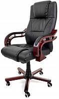 Компьютерное кресло офисное Prezydent Calviano механизм TILT Черное, фото 1