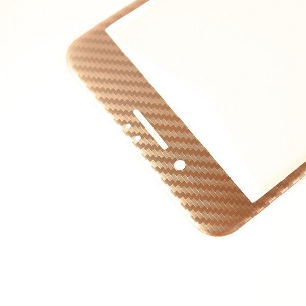 Защитное стекло  for Apple iPhone 6 Plus carbon плоский face rose gold