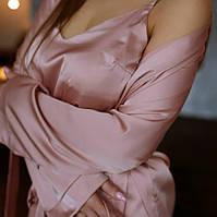 Шелковый комплект (Халат+пижама) +Подарочная Упаковка!, фото 1