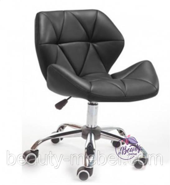 Кресло Стар Нью, мягкое, хром, цвет черный