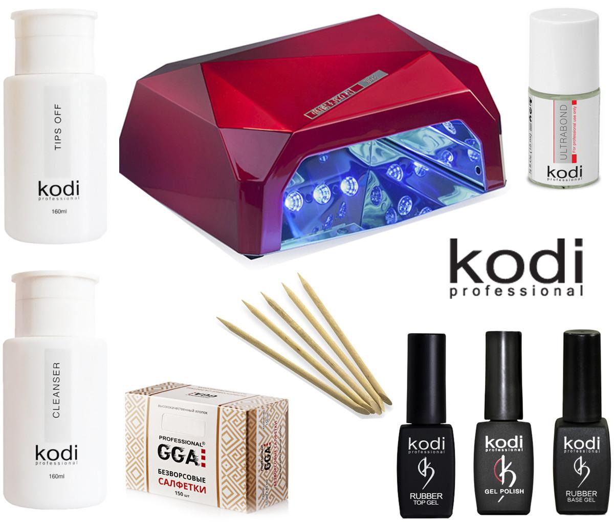 Старт набор гель лаков Kodi c Гибридной лампой
