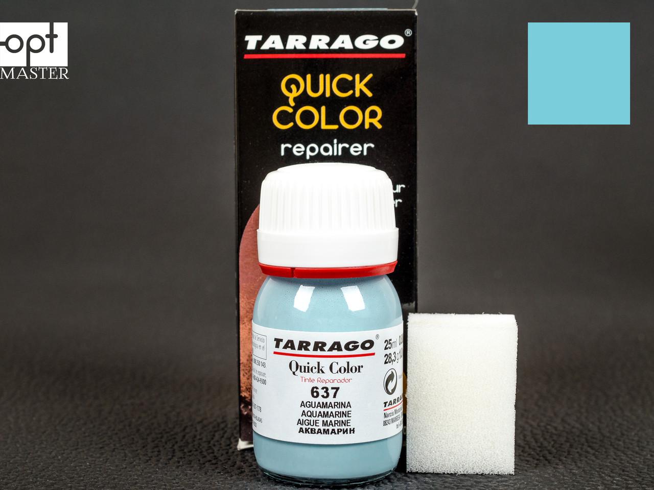 Краска для кожи цв.аквамарин Tarrago Quick Color, 25 мл, TDC83(637)