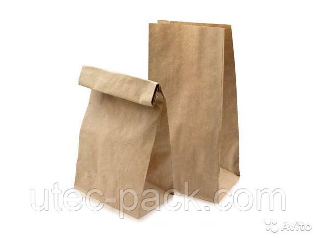 Набор 100 шт. крафт пакет ЮТЕК  (Take Away), без ручек 190*115*280 мм  КП-100 -190