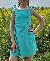 Модное  платье для девочки  код 827 лето , размеры на рост от 134 до 152 возраст от 7 лет и старше, фото 1