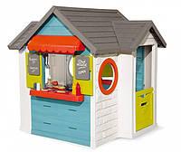 """Игровой дом """"Шеф Хаус"""" с кухней, кассой, наб. посуды и аксес.,  Smoby , 124,5х132х135,7см, 2+"""