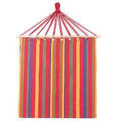 Бавовняний підвісний гамак з дерев'яними планками, з подушкою, розмір 200*100 см червоний