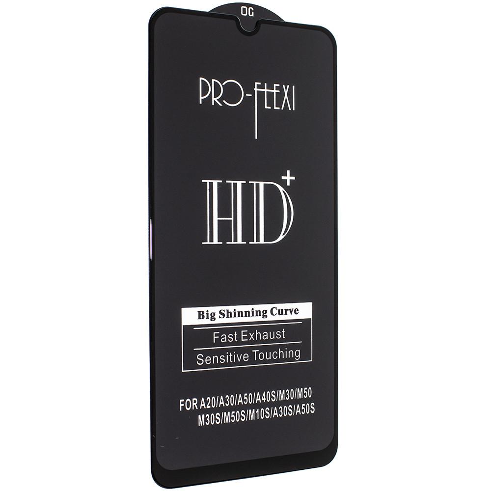 Стекло HD+ SAMSUNG A90 ЧЕРНЫЙ - PRO-FLEXI защитное, premium
