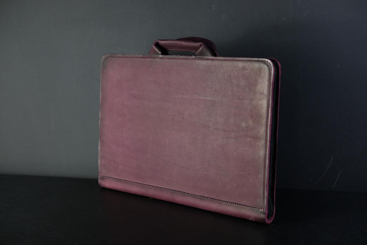 Чехол для MacBook Кожа Итальянский краст цвет Бордо