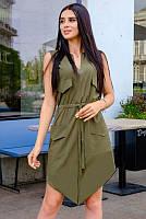 Короткое летнее платье Рене софт  до 60 размера