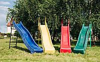 Горка детская пластиковая, спуск 2,2 метра с металлической лестницей 1,2 м.KBT Бельгия