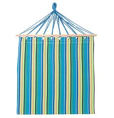 Бавовняний підвісний гамак з дерев'яними планками, з подушкою, розмір 200*100 см синій