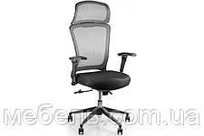 Кресло для работы дома Barsky BS-02 Style Grey, сеточное кресло, серый, фото 2