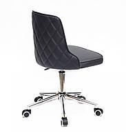 Кресло Адам ADAM MODERN OFFICE черная экокожа на колесиках, спинка стеганая