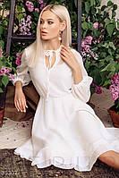 Шифоновое летнее платье миди белое