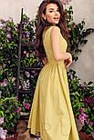 Коттоновое платье миди в горошек желтое, фото 2