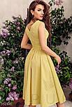 Коттоновое платье миди в горошек желтое, фото 3