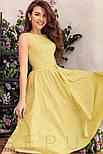 Коттоновое платье миди в горошек желтое, фото 4