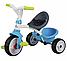 Детский велосипед Smoby Baby Driver comfort с козырьком и багажником зелено-голубой (741200), фото 4