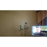 Самоклеющаяся декоративная 3D панель под бежевый кирпич 700x770x5мм Os-BG09, фото 4