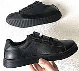 Mante! Брендовые кожаные черные женские туфли на липучках кроссовки слипоны кеды, фото 8