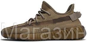 Мужские кроссовки adidas Yeezy Boost 350 V2 Earth FX9033 (Адидас Изи Буст 350) бежевые, фото 2