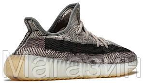 Мужские кроссовки adidas Yeezy Boost 350 V2 Zyon FZ1267 (Адидас Изи Буст 350) серые, фото 3