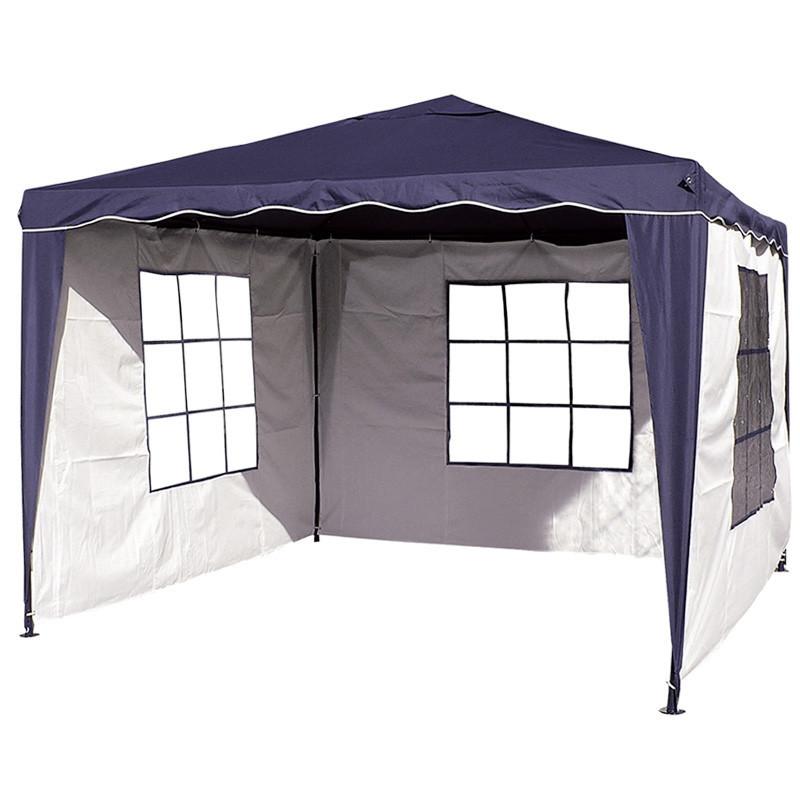 Павильон шатер садовый 3х3 с 3 стенками (тент - полиэстер+ПВХ)