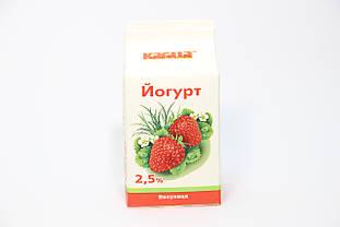 Йогурт полуниця 500г ТМ Кагма 2.5%